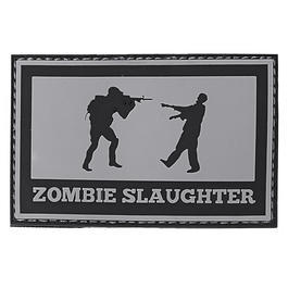 3D Rubber Patch Zombie Slaughter grau/schwarz