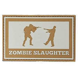 US Shop - 3D Rubber Patch Zombie Slaughter grau/braun