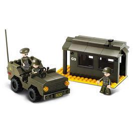 Sluban Wachposten mit Jeep M38-B6100, 171 Bauteile