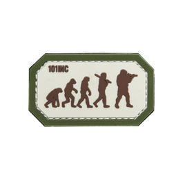 101 INC. 3D Rubber Patch Airsoft Evolution sand/grün