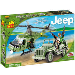Cobi Bausatz Willys MB mit Helikopter 253 Teile