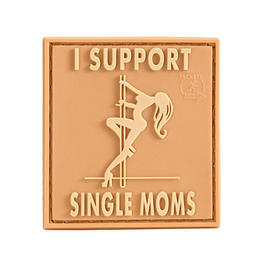 3D Rubber Patch I Support Single Moms desert