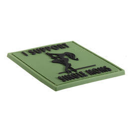 3D Rubber Patch I Support Single Moms forest