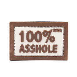 101 INC. 3D Rubber Patch 100% Asshole sand/braun