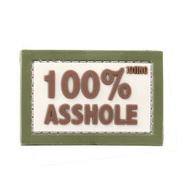 101 INC. 3D Rubber Patch 100% Asshole sand/grün