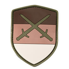 101 INC. 3D Rubber Patch Schild deutsch desert Schwert