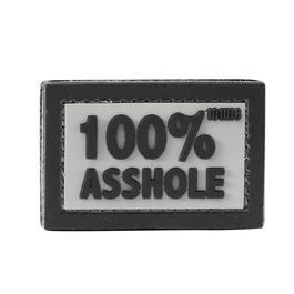 101 INC. 3D Rubber Patch 100% Asshole grau/schwarz