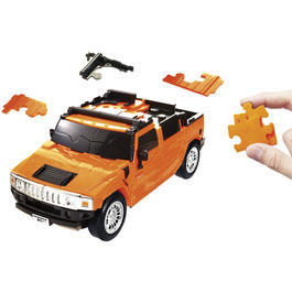 Puzzle Fun 3D 1:32 Hummer H2 3D Puzzle 70 Teile orange 80657100