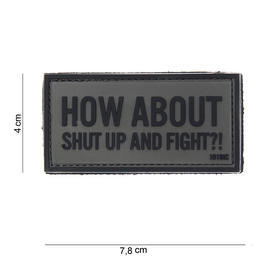 101 INC. 3D Rubber Patch How about grau/schwarz