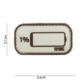 101 INC. 3D Rubber Patch How about sand/braun