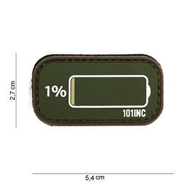 101 INC. 3D Rubber Patch How about oliv/braun