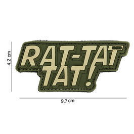 101 INC. 3D Rubber Patch Rat-tat tat oliv/sand
