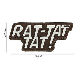 101 INC. 3D Rubber Patch Rat-tat tat braun/sand