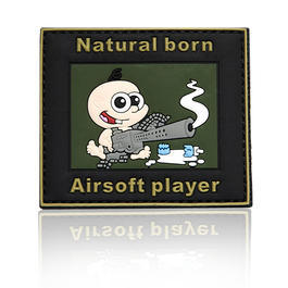 101 INC. 3D Rubber Patch Natural born Airsoft player