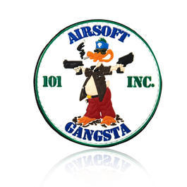 101 INC. 3D Rubber Patch Airsoft Gangsta