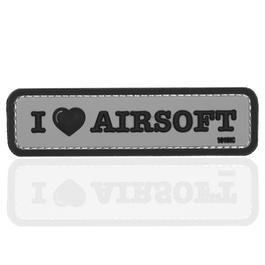 101 INC. 3D Rubber Patch I Love Airosoft grau/schwarz