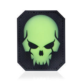 Mil-Spec Monkey 3D Rubber Patch Pirateskull Large green glow