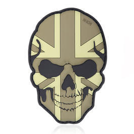 101 INC. 3D Rubber Patch Skull U.K. dezent