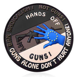JTG 3D Rubber Patch Hands off my Gun desert