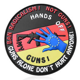 JTG 3D Rubber Patch Hands off my Gun fullcolor