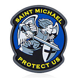Mil-Spec Monkey 3D Rubber Patch Saint Michael Modern PVC fullcolor