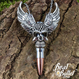 Real Bullet Halskette Lord of Bullet AK 47, 7,62 Silver Edition