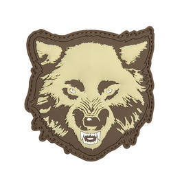 3D Rubber Patch Wolf coyote