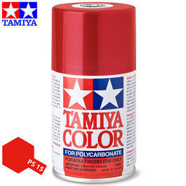 Tamiya PS-15 Metallic rot Lexan Spraydose 100ml