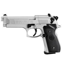 Umarex Waffen - Beretta 92 FS CO2 Pistole 4,5mm (.177) Diabolo vernickelt mit Kunststoffgriffschalen