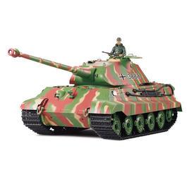 Panzermodell - RC Königstiger mit Porscheturm 1:16 Sommertarn grün Infrarot RTR