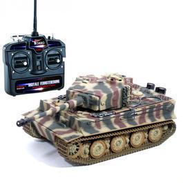 Panzermodell - RC Tiger I Späte Version 1:16 Sommer Tarnlackierung schussfähig Rauch & Sound RTR