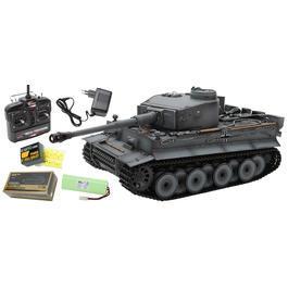 RC Panzer Tiger I Frühe Version grau 1:16 schussfähig Rauch & Sound RTR