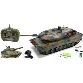 Panzermodell - Carson RC Panzer Leopard 2A5 mit 4 Raketen grüntarn 1:16 schussfähig 100% RTR