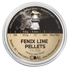 COAL 4,5mm Diabolos Fenix Line Pellets FX450