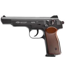 Luftdruckwaffen - Gletcher APS CO2 Luftpistole NBBKal. 4,5mm SBB schwarz-braun