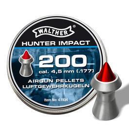 Walther Luftpistolen - Walther Hunter Impact Diabolos Kal. 4,5 mm, Spitzkopf, 200 Stück