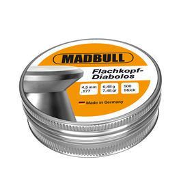 Luftdruckwaffen - Madbull Diabolos 4,5mm Flachkopf, glatt, 500 Stück