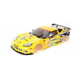 Killerbody 1:10 Polycarb. Karosserie Corvette GT2 gelb RTU all-in 190mm KB48012