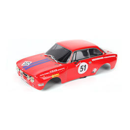 Killerbody 1:10 Polycarb. Karosserie Alfa Romeo 2000 GTAm rot RTU all-in 190mm