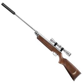 Luftgewehre - Weihrauch HW 35K Silverwood Luftgewehr inkl. Zielfernrohr Schalldämpfer Kal. 4,5mm Diabolo