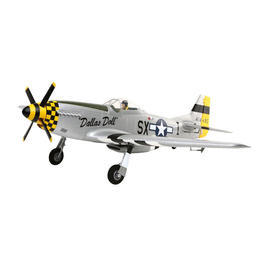 E-Flite P-51D Mustang Dallas Doll 6-Kanal 2,4 GHz BnF Basic Set EFL6750