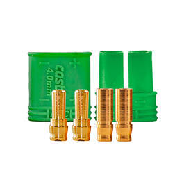 Castle Creations 4mm Polarized Connector Goldstecker Set (1 Paar) CSE011006500