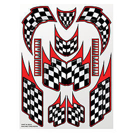 XXX Main Racing Checkers Sticker Aufkleberbogen S023