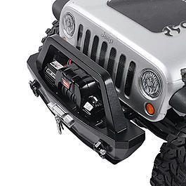 RC4WD Tough Armor Stubby Front Winch Bumper f. SCX10 Chassis schwarz Z-S1313