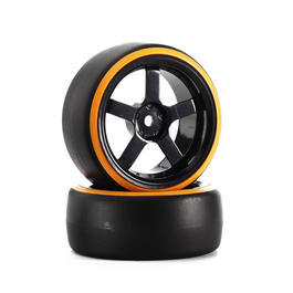 HRC 1:10 Komplettr�der Drift Dual Color 5-Speichen 3mm Offset (2) orange HRC61061OR