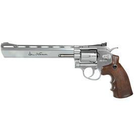 Luftdruckwaffen - Dan Wesson 8 Zoll CO2 Revolver 4,5mm BB chrom / Wood-Style Grip