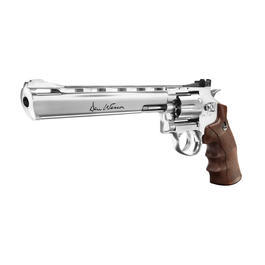 Dan Wesson 8 Zoll CO2 Revolver 4,5mm BB chrom / Wood-Style Grip