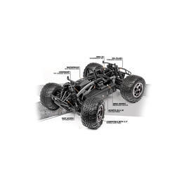 HPI 1:10 Savage XS Flux Brushless 4WD Ford F-150 Raptor Truck 2,4 GHz RTR Set 115125