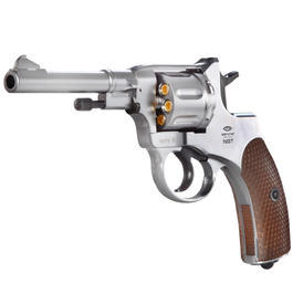 Gletcher NGT Nagant CO2 Revolver 4,5 mm BB vernickelt