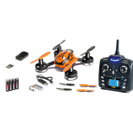 Carson RC X4 Quadrocopter Spy Sport 4-Kanal 2,4 GHz 100% RTF mit Kamera orange 500507106
